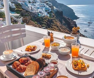 breakfast, Greece, and summer image