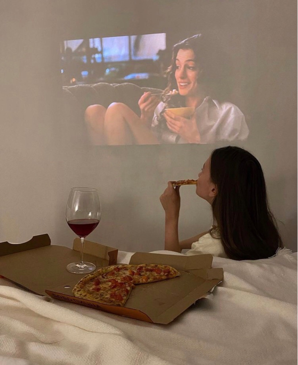pizza, relax, and wine image
