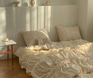 apartment, bedroom, and comfy image