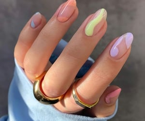 nails, colors, and aesthetic image
