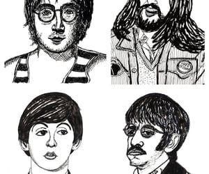 beatles, caricatura, and ilustracao image