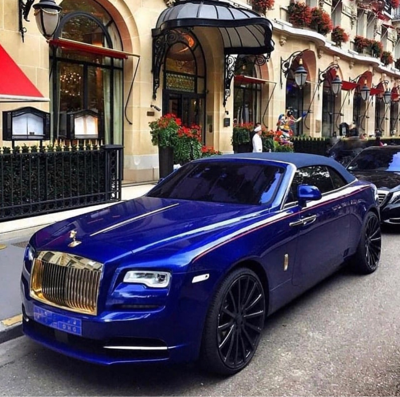 blue car, glamour, and gorgeous image