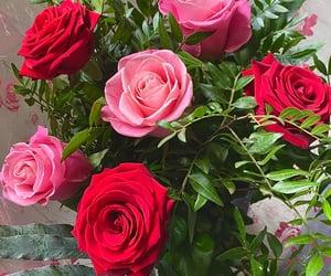 boyfriend, flowers, and girlfriend image