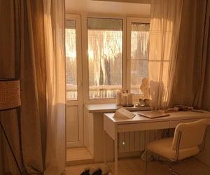 bedroom, comfy, and desk image