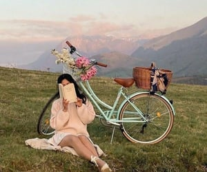 bicycle, aesthetic, and book image