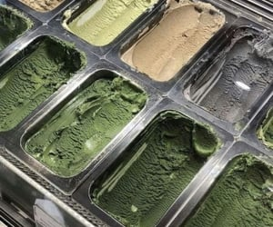 green, ice cream, and aesthetic image