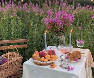 cake, cottage, and romantic dinner image