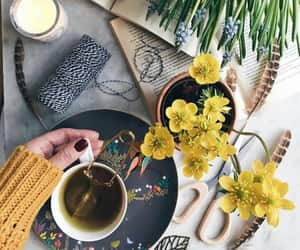 afternoon tea, cozy, and flowers image