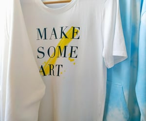 art, blue, and hoodies image