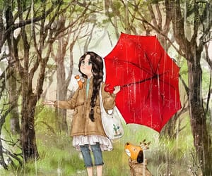 girl, illustrations, and paseo image
