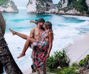 beach, kiss, and lovers image