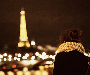 beautiful, effiel tower, and girl image