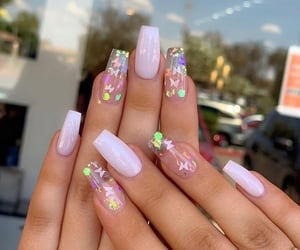 nails, butterfly, and manicure image