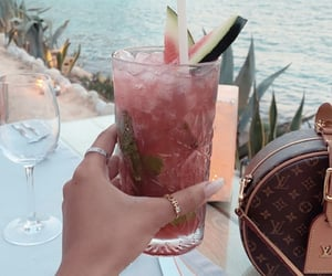drink, beach, and luxury image