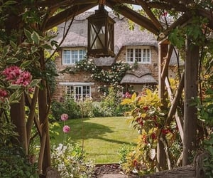 cottage, flowers, and nature image