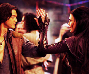 legend of the seeker, richard cypher, and kahlan amnell image