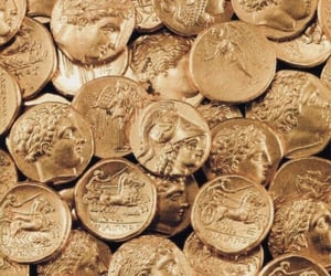 gold, coin, and aesthetic image