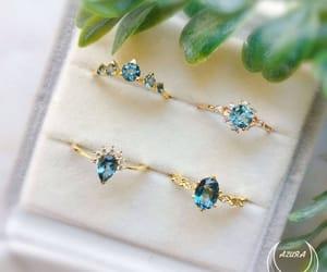 bague, bijoux, and Bleu image