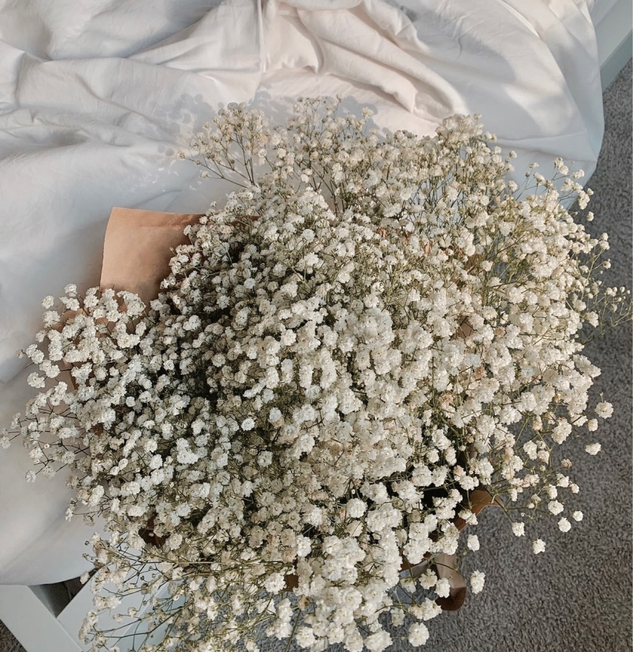 bouquet, white, and floral image