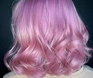 pink hair and pink love image