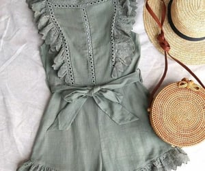 green, hat, and lace image