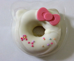 hello kitty, donut, and food image