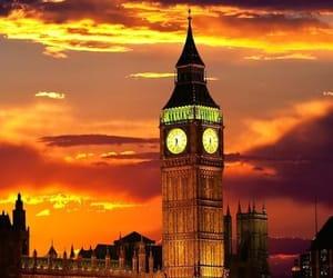 Big Ben, sunset, and london image