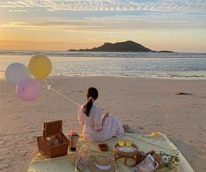 beach, girl, and korea image
