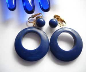 etsy, hoop earrings, and crown trifari image