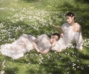 flowers, girls, and aesthetic image