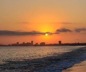 beach, california, and sunsets image