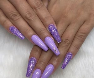glitter, manicure, and fakenails image
