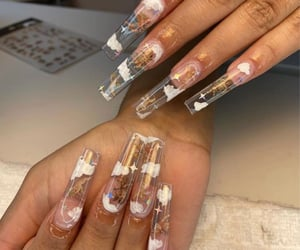angel, clear, and nails image