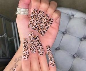cheetah and nails image
