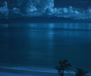 blue, ocean, and night image