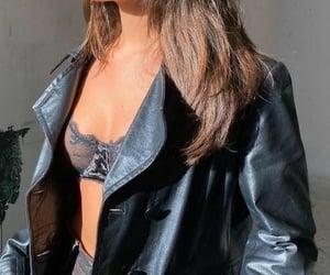 black, girl, and leather image