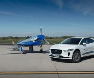 electric cars and electric planes image