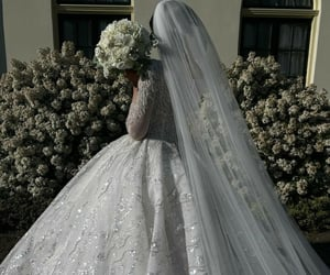 bouquet, bride, and classy image
