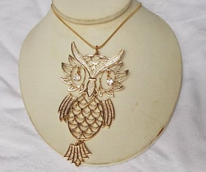etsy, owl jewelry, and silver owl image