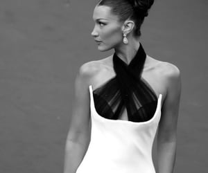 black and white, cannes film festival, and bella hadid image