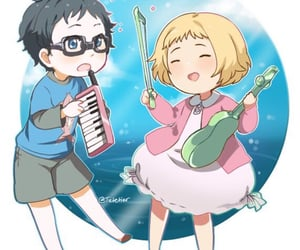 cuties, your lie in april, and AHH image