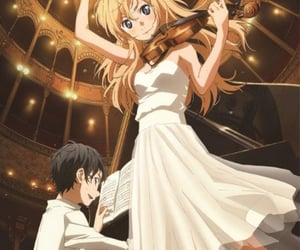anime, pretty girl, and your lie in april image