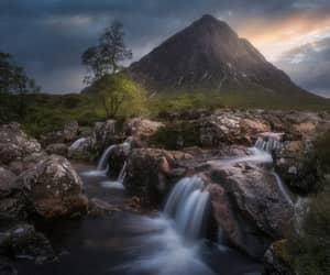 glen etive, highlands of scotland, and buachaille etive mor image