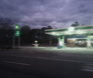 dark, gas station, and grunge image