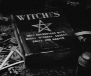 witch, book, and dark image