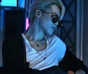 blond hair, kpop, and shades image