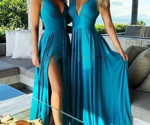 cheap bridesmaid dress, wedding guest dresses, and blue bridesmaid dress image