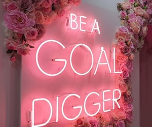 goals, neon, and pink image