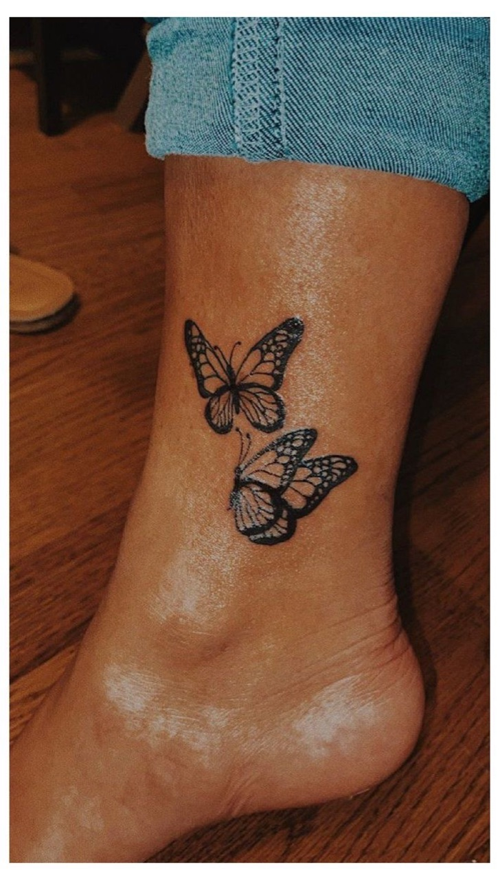 butterfly, ink, and tattoo image