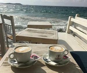coffee, sea, and summer image